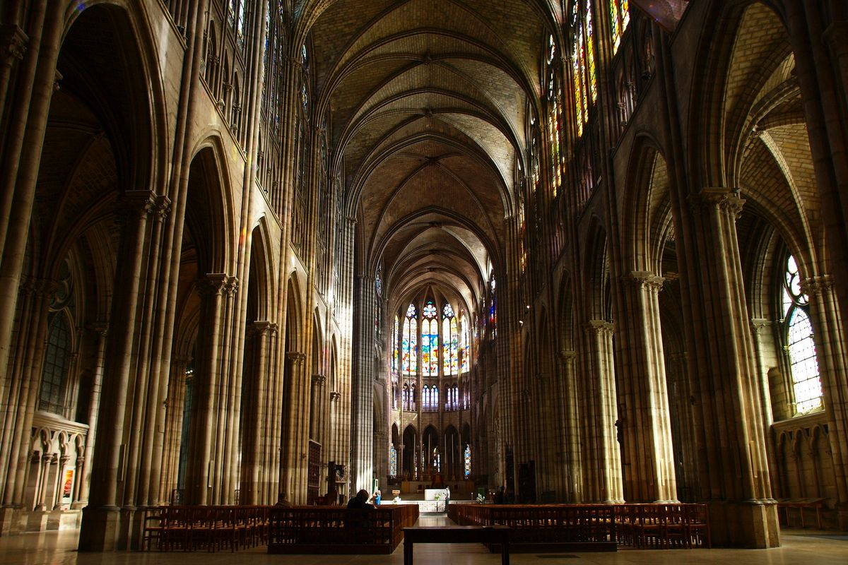Saint Denis Basilica, one of famous gothic churches