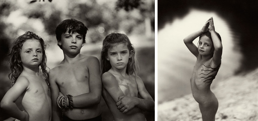Sally Mann - Emmett, Jessie, Virginia, 1989 - Virginia at 6, 1991, museum and gallery hold the young portraits and photographs, books