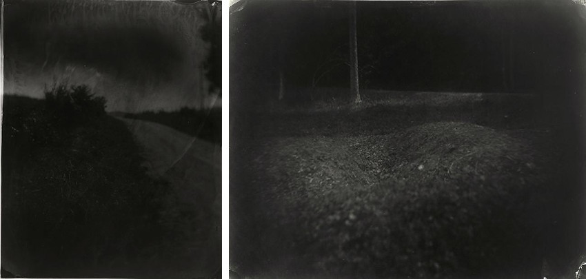 Sally Mann - Untitled [Wilderness #19], 2001 (Left) - Untitled [Antietam #14], 2001 (Right), images courtesy of Edwynn Houk Gallery
