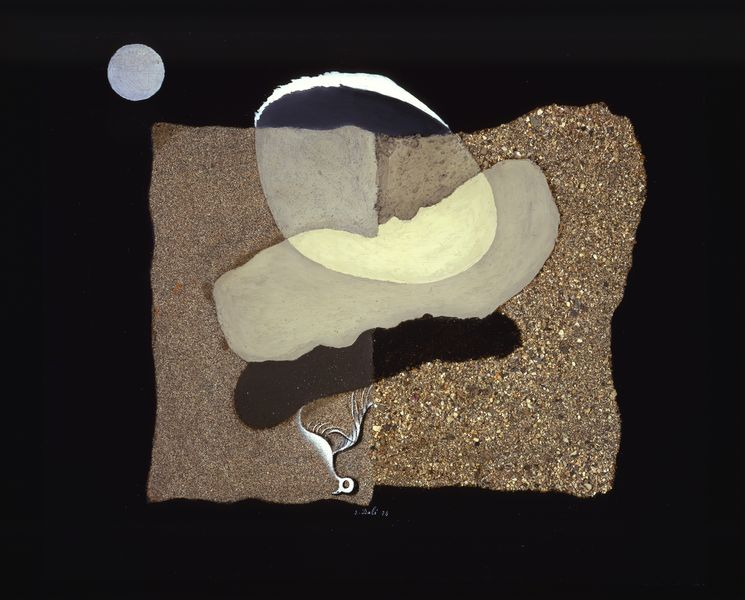 Salvador Dalí - Big Thumb, Beach, Moon and Decaying Bird, 1928, canvas