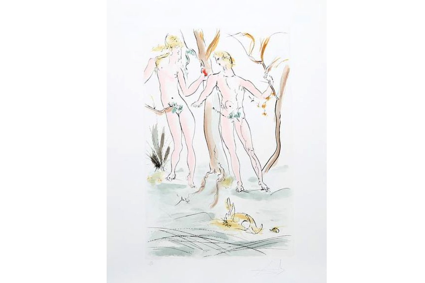Salvador Dali - Adam et Eve from the Homage a Albrecht Durer Suite, 1971