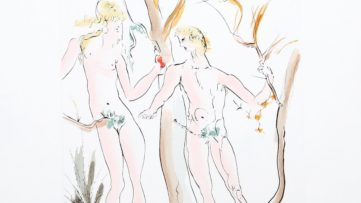 Salvador Dali - Adam et Eve from the Homage a Albrecht Durer Suite detail), 1971