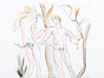 Salvador Dali - Adam et Eve from the Homage a Albrecht Durer Suite detail), 1971