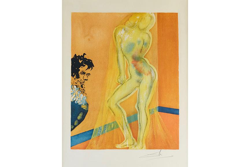Salvador Dali - Allegory: The Chevalier's Dream of Cecile