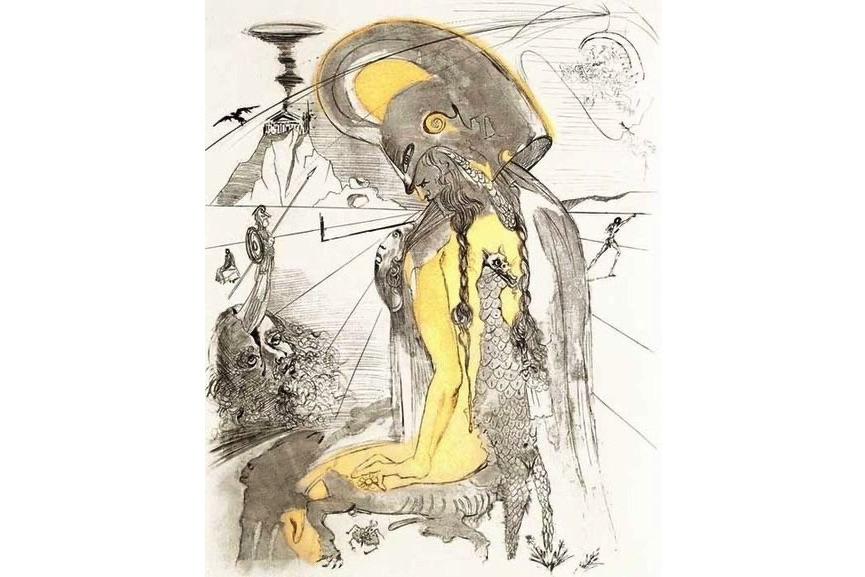 Salvador Dali - Athena, 1963