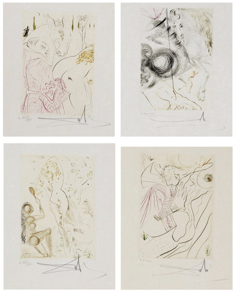 Salvador Dali-Boccaccio : Decameron-1972