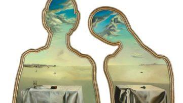 Salvador Dali - Couple aux tetes pleines de nuages
