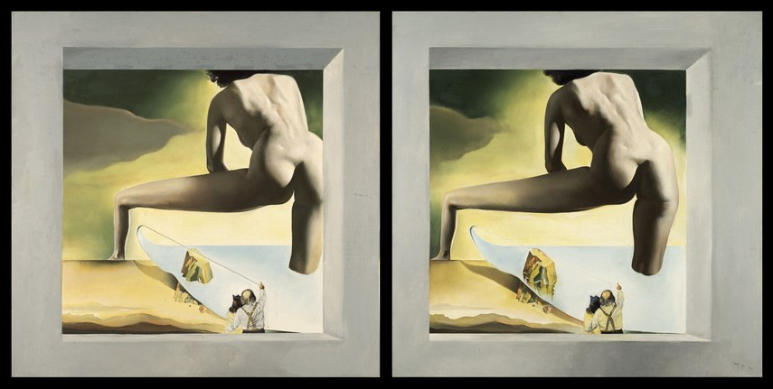 Salvador Dali - Dalí Lifting the Skin of the Mediterranean Sea