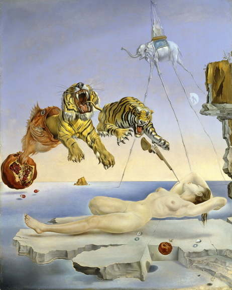 Salvador Dali -Dream caused by the Flight of a Bee Around a Pomegranate one second before awakening