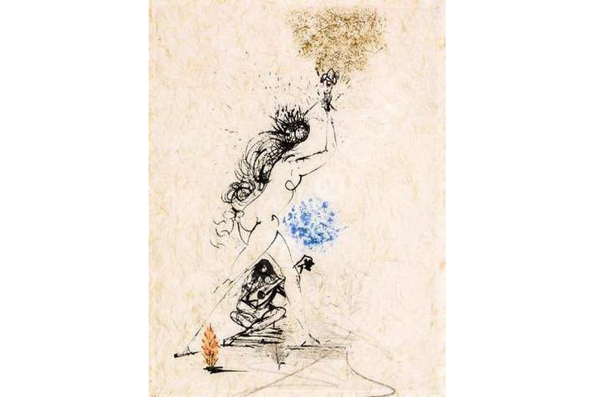 Salvador Dali - La Felle au Flambeau