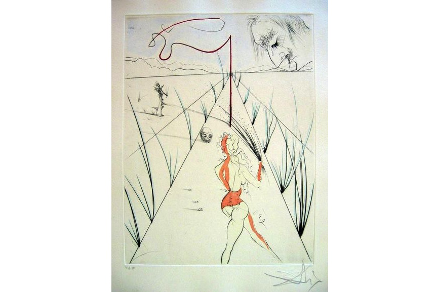 Salvador Dali - La Femme au Fouet (Woman with Whip), 1969