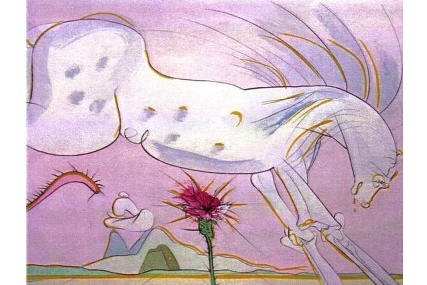 Salvador Dali - Le Cheval et le Loup (The Horse and the Wolf), 1974