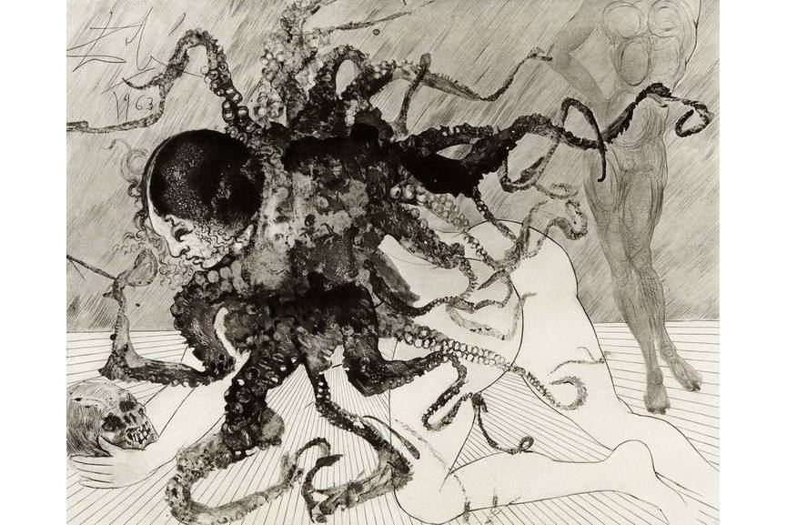 Salvador Dali - Medusa (La Meduse)