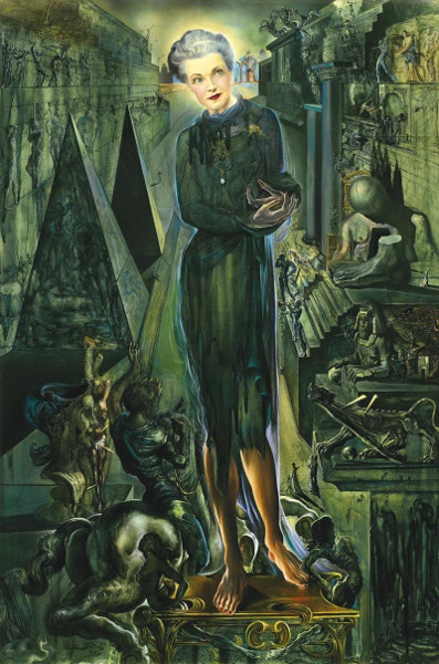 Salvador Dali - Portrait Of Mrs Harrison Williams 1943