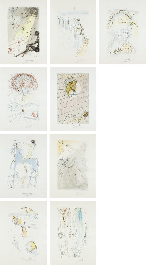 Salvador Dali-Song of Songs: nine plates-1971