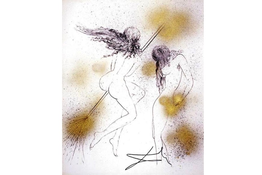Salvador Dali - Sorcieres au Balais (Witches with Broom), 1968