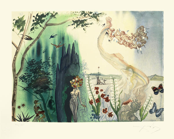 Salvador Dali-Spring, from The Four Seasons-1972