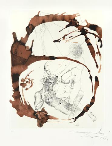 Salvador Dali-Theseus, from Mythologie-1965