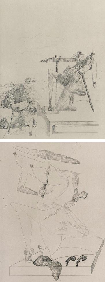 Salvador Dali-Two Plates from les Chants de Maldoror-1934