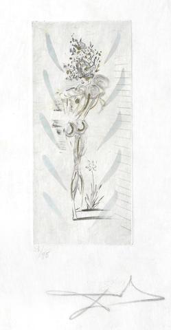 Salvador Dali-Vignette, from Petits Nus d'Apollinaire-1967