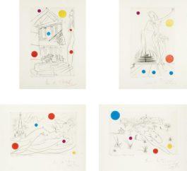 Salvador Dali-Visions of Chicago Suite-1972