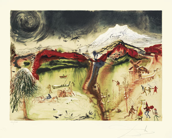 Salvador Dali-Winter, from The Four Seasons-1972
