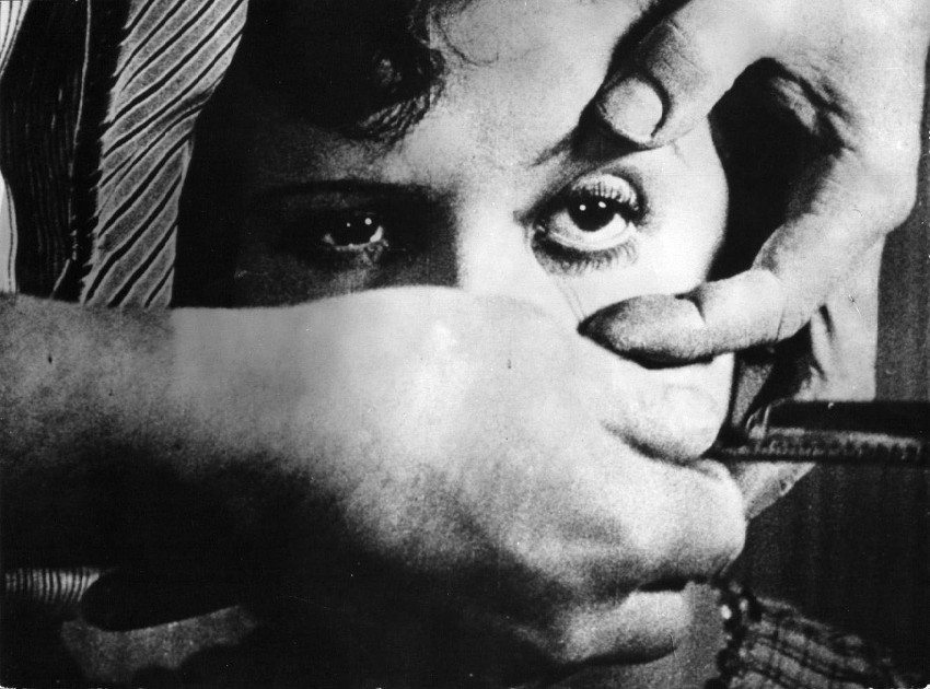 Salvador Dali and Luis Bunuel - screenshot from Un Chien Andalou, 1929
