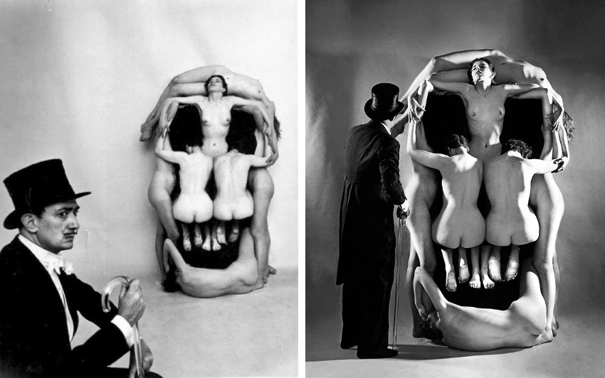 Salvador Dali and Philippe Halsman - In Voluptas Mors (making of), 1951