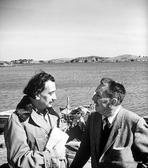 Salvador Dalí and Walt Disney 1957, a friendship that made history