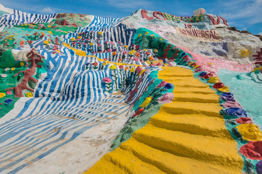 Salvation Mountain, Niland, CA, a national treasure in the California Desert area of Imperial County