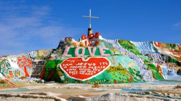 Visit Salvation Mountain, Niland, CA, near Salton Sea and Slab City, the United States