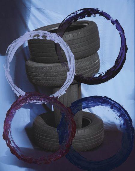 Sam Falls-Untitled (Tires Violet)-2011