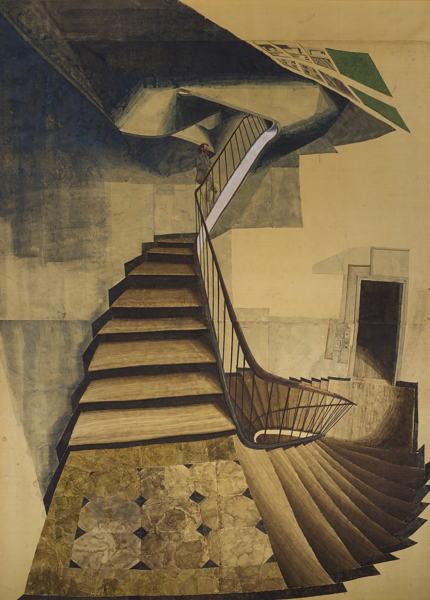 Sam Szafran-Sans Titre (Escalier)-1996