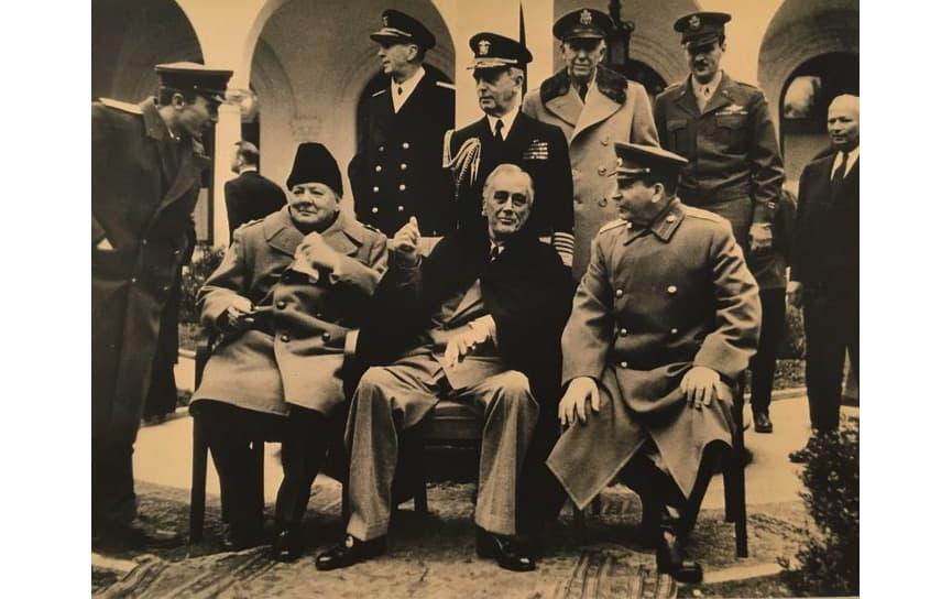 Samary Gurary - Churchill, Rousvelt and Stalin in Yalta, 1945