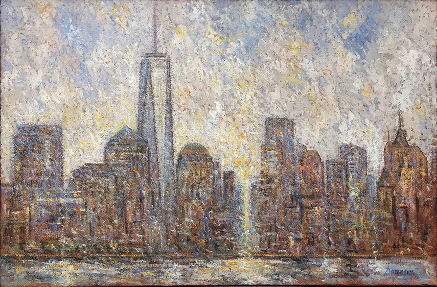 Samir Sammoun - New York, 2016. Oil on canvas, 40x60 cm