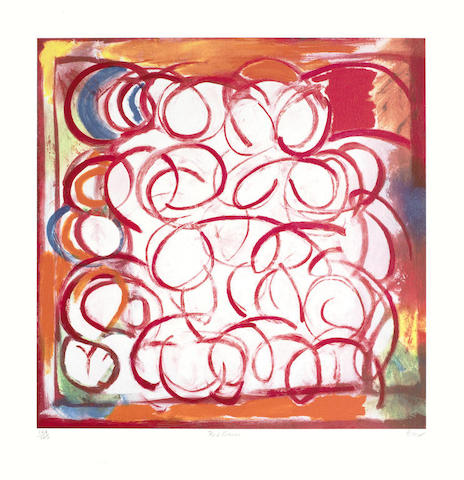 Sandra Blow-Red Circles-2000