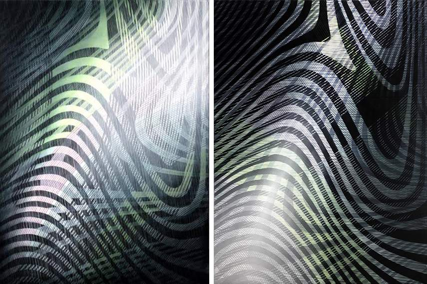 Sandra Schlipkoter - ∆s =kl -1, 2016 (Left) / ∆s =kl -2, 2016 (Right)