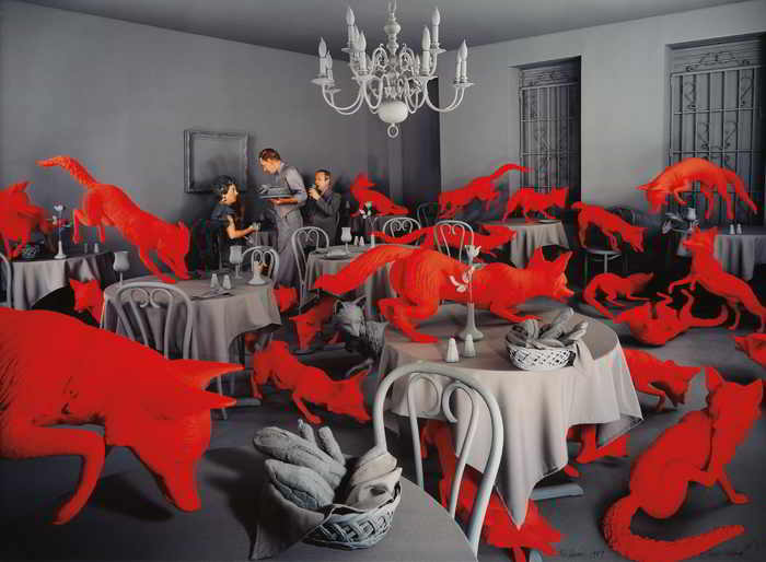 Sandy Skoglund-Fox Games-1989