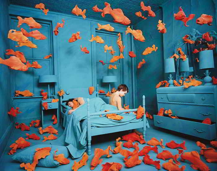 Sandy Skoglund-Revenge of the Goldfish-1980