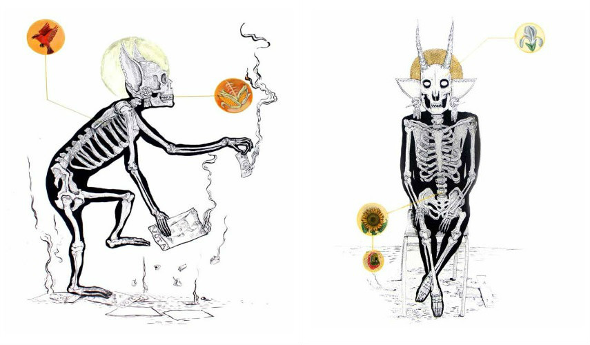 Saner - Introspeccion I, 2013 (left) - Introspeccion II, 2013 (right), photo credits saner-dsr.blogspot.com new york gallery 2016