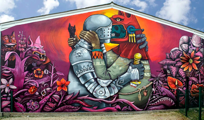 Saner - Street Art on Festival Cheminance in Fleury les Aubrais, France, photo credits artpie.co.uk