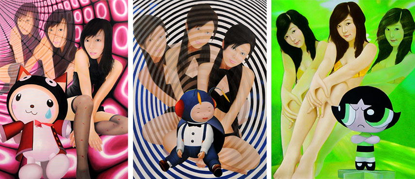 Saori Nakamishi - Pink Tubes, Black Circles and Jelly Green, 2009, images copyrights Artadoo