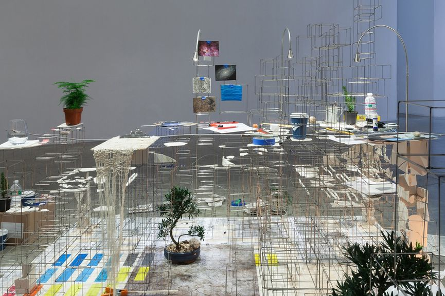 Sarah Sze - Still Life with Desk, 2013-2015, via artobserved com