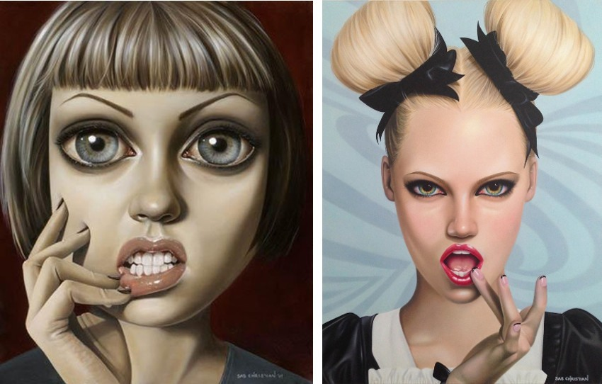 Sas Christian - It's A Sugar Fix, Honey (Left) / Lupine Bonbon (Right), 2014