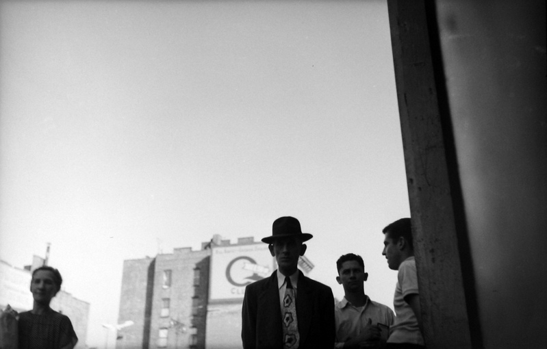 Saul Leiter - Man with Tie, c.1949, Image copyrights © Howard Greenberg Gallery