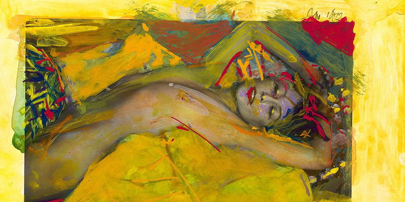Saul Leiter - Shades of Klimt, Painted Nudes series (detail), Image copyrights © The Guardian