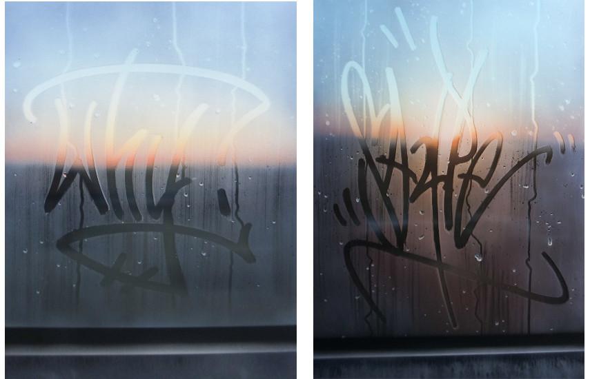 Saype - En campagne, Acrylique sur toile et plexiglas, 2017 ------ Provence, , Acrylique sur toile et plexiglas, 2017