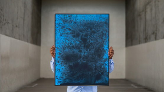 Sayre Gomez - Untitled Painting in Cerulean - image via absolutart