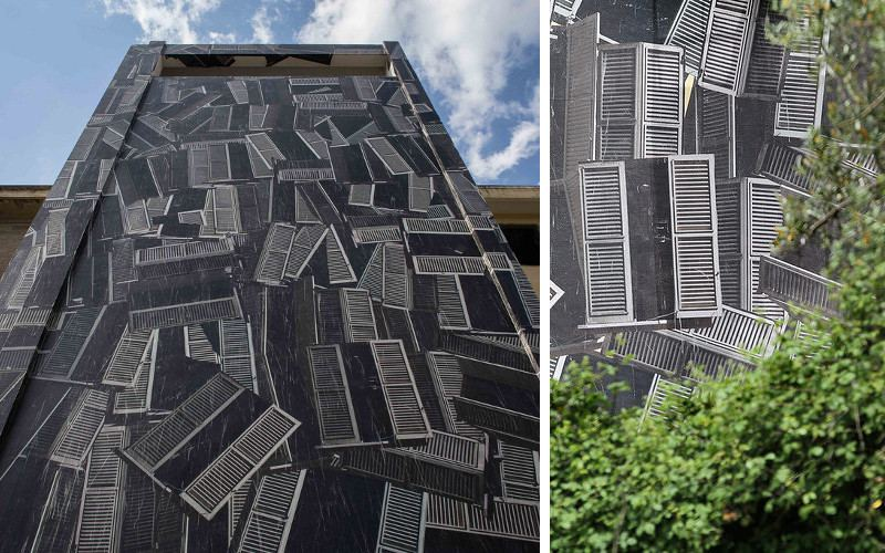 Sbagliato - Terremoto,Catanzaro - wall piece for AltroveFestival 2015 - photo credit Angelo Jaroszuk Bogasz