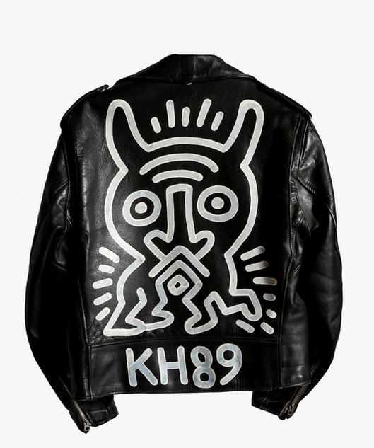 Schott Motorcycle Jacket Painting Keith Haring